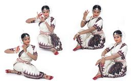 Classical indian female dancer Stock Photo