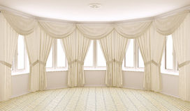 Classical interior with curtains Royalty Free Stock Photos