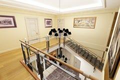 Classical interior design. (privat apartment 3d rendering stock illustration