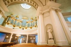 Classical Interior Of Helsinki Cathedral Royalty Free Stock Photo