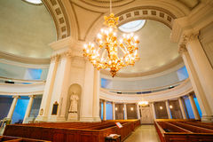 Classical Interior Of Helsinki Cathedral. HELSINKI, FINLAND - JULY 27, 2014: Classical Interior Of Helsinki Cathedral Stock Image