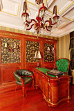 Classical interior ornate working space Royalty Free Stock Photo