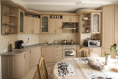 Classical kitchen interior Royalty Free Stock Photo