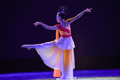 Classical ladies dance-The national folk dance Royalty Free Stock Photo