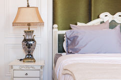 Classical lamp style in classic bedroom Stock Photo