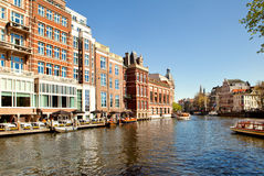 Classical landscape of Amsterdam, Netherlands Stock Photos