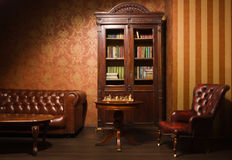 Classical library room Royalty Free Stock Photos