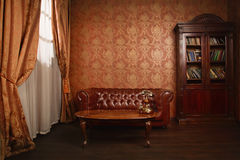 Classical library room Stock Photography