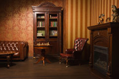 Classical library room Royalty Free Stock Images