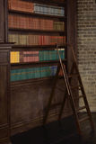 Classical library room  in the victorian style Stock Photos