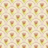 Classical light background with small tulips on beige area. Royalty Free Stock Photo