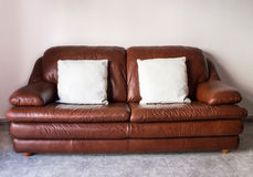 Classical luxurious sofa with cushions Royalty Free Stock Photo