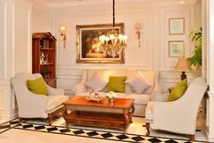 Luxury living room furniture fitting appliance royalty free stock photos