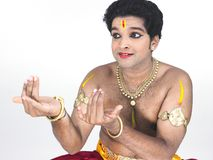 Classical male dancer from india Royalty Free Stock Photo