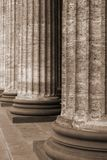 Classical marble columns Royalty Free Stock Photography