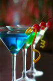 Classical martini with berries of a cherry Stock Images