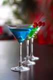 Classical martini with berries of a cherry Royalty Free Stock Images