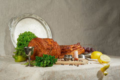 Classical meat still-life Royalty Free Stock Image