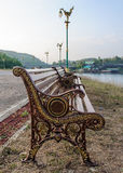 Classical metal bench Stock Image