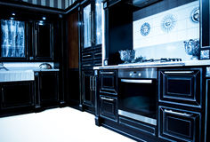 Classical modern kitchen Royalty Free Stock Images