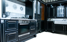 Classical modern kitchen Royalty Free Stock Image