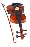 Classical modern violin with french bow Stock Photography
