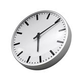 Classical modern wall clock isolated on white Royalty Free Stock Images