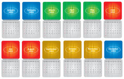 Classical monthly calendar for 2013. With abstract background royalty free illustration