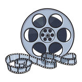 Classical motion picture, cinema film reel, sketch style vector illustration Stock Photos