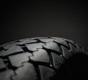 Classical motorcycle tire Stock Photo