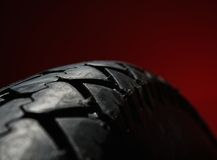 Classical motorcycle tire Royalty Free Stock Photos