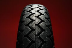 Classical motorcycle tire Royalty Free Stock Images