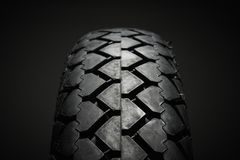 Classical motorcycle tire Royalty Free Stock Photo