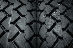 Classical motorcycle tire tread Royalty Free Stock Photo