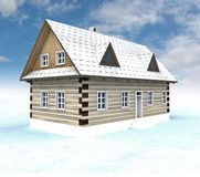 Classical Mountain House With Blue Sky Royalty Free Stock Photography