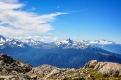Classical Mountain view -Blackcomb Peak, BC Stock Photos