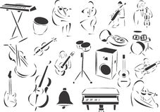 Classical Music royalty free illustration