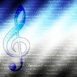 Classical music backhround. Classical music background pattern with the treble clef vector illustration