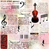 Classical music background Stock Photos