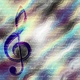 Classical music backhround. Classical music background pattern with the treble clef royalty free illustration