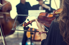 Classical music concert outdoors. Royalty Free Stock Photography