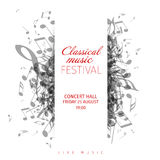 Classical music concert poster template Royalty Free Stock Photos