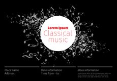 Classical music concert poster template vector illustration