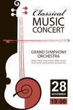 Classical concert poster royalty free illustration