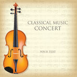 Classical music concert. Poster for a concert of classical music with violin. Vector illustration royalty free illustration