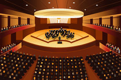Classical Music Concert. A vector illustration of classical music concert stock illustration