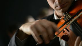 Classical Music Concert. Classical music: Violinist playing at the concert stock video footage