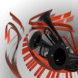 Classical music cover Stock Images