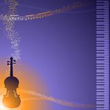 Classical music frame Royalty Free Stock Photo