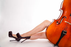 Classical music and high hells Stock Photo